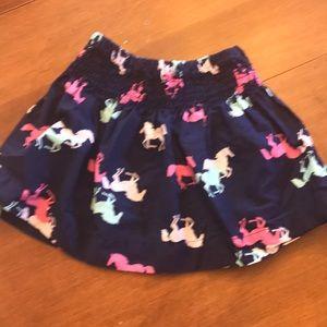 Woven horse print skirt